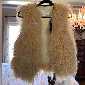 3.1 Phillip Lim Lamb Fur Shearling Vest sz 4